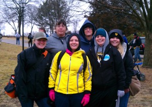 The ladies who participated in the Columbia Ice Bowl
